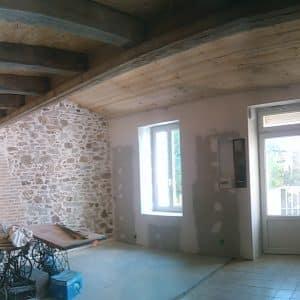 Électricité et isolation dans une maison de tisserand à Cholet