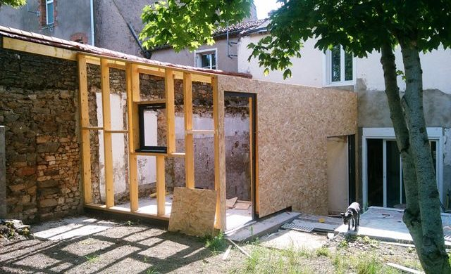Rénovation, ossature bois sur Cholet