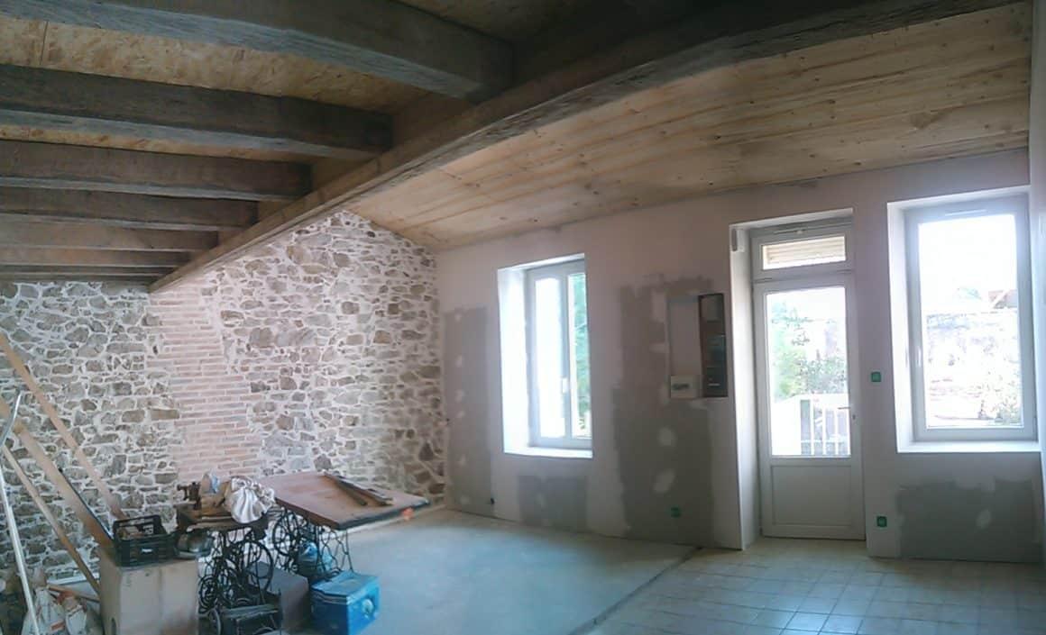 Rénovation électricité/isolation – Maison de Tisserand
