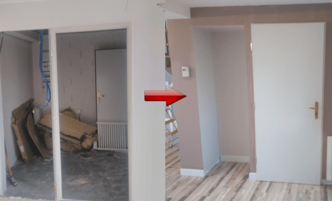 Rénovation réalisée dans le quartier du Plessis à Cholet